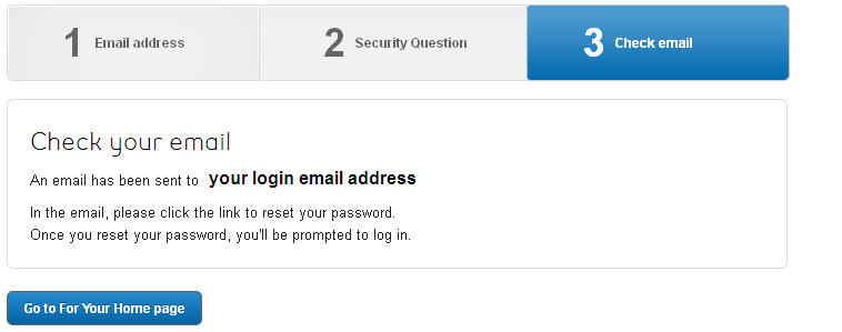 Image: Reset password email